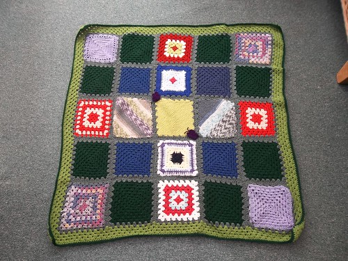 Thank you to all the Ladies over on MSE thread that have made these Squares. Chalky75 has very kindly put the Squares together and donated this Beautiful Blanket. I am just so grateful to them all!.