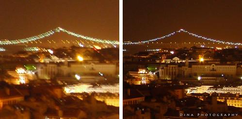 Lisbon night scene comparison