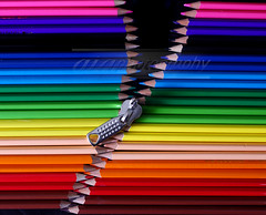 Unfold the colours in your life! (rohtas) Tags: pink blue pakistan red stilllife orange brown black green yellow pencil studio rainbow colours conceptual zip jhelum gettyimagespakistanq12012