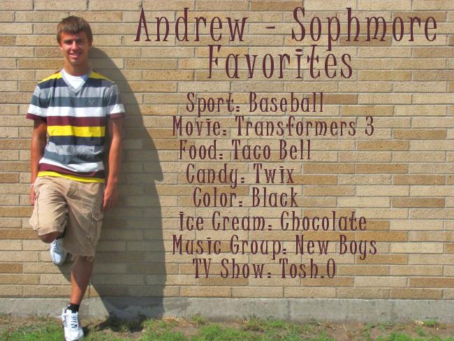 Andrew - Sophmore