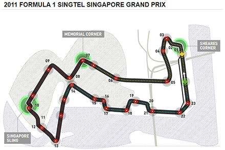 Formula One in Singapore from 23 to 25 September 2011.