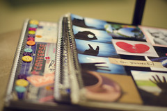 nostalgic noteooks (oohvelocitygirl) Tags: old 50mm nikon focus dof decorative f14 memories journal depthoffield nostalgia past d7000