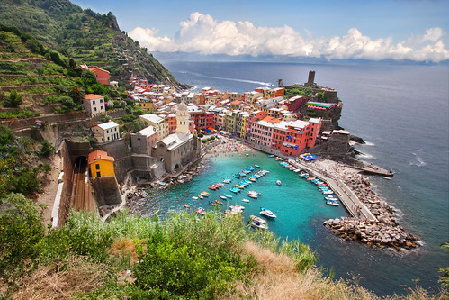 'Colorful Coastline', Italy, West Coast, Cinque Terre, Vernazza Port City
