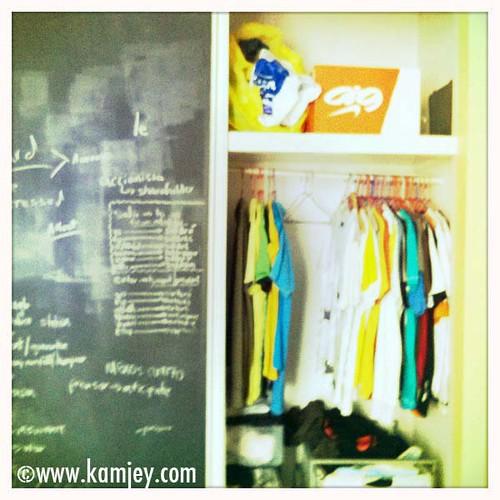 In my closet...
