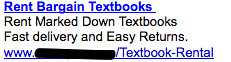 Ad #2 - Textbook Rental