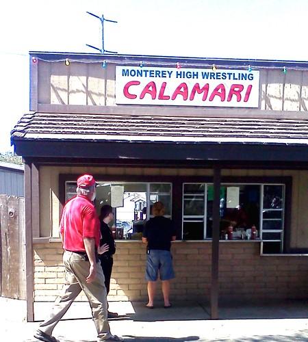 wrestling calamari food booth