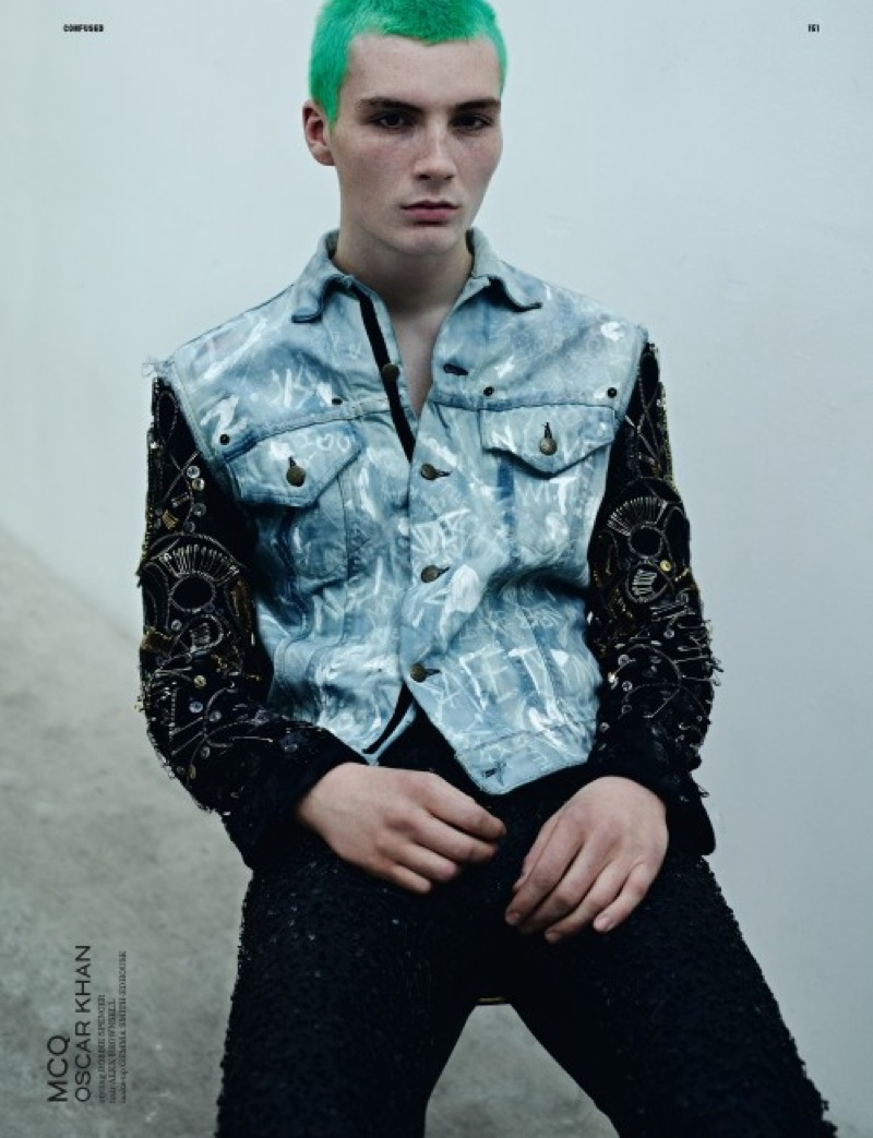 Dazed-Homotography-5 McQ mens denim jacket