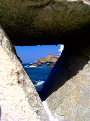secret triangle ( my first explore - sept.21, 2011 ) Chora, Andros, Greece - #234 (dimitra_milaiou) Tags: world blue shadow sea summer sky sun lighthouse color castle water rock stone island greek photography gold grey one 1 design nokia photo europe day waves photographer view shot photos horizon fine aegean hellas visit best explore greece photograph hora imagination 500 shape pure platinum chora andros cyclades dimitra hellenic x6 2011  kyklades explored   horaandros  aigaio     plakoyres tourlitis turlitis milaiou  plakoures