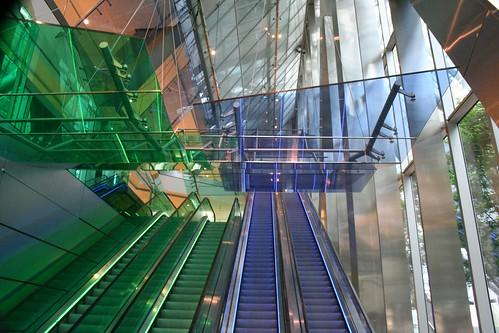 Entrance escalators