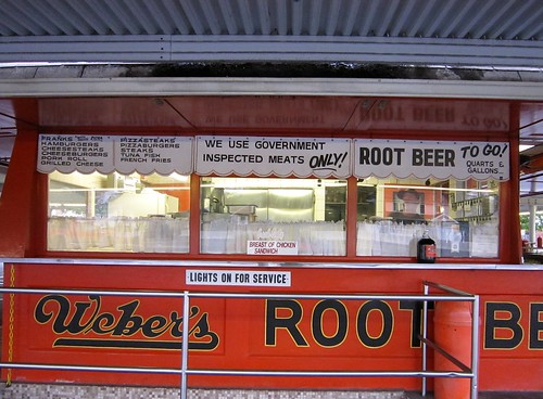 Weber's Root Beer Drive In Menu Windows