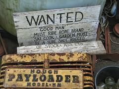 Wanted :  Good Man [v.2] (shadowplay) Tags: ski ass garden ride cook rope wanted brand ets freeland goodman sureshot salvageyard payloader topazadjust ruggedstock