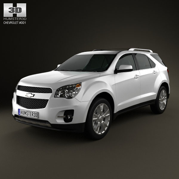 chevrolet 3d model equinox 2010 humster3d