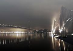 A Tale of Two Bridges (MISTY) (kenny barker) Tags: road mist seascape fog river scotland fife transport bridges rail le forthbridges saariysqualitypictures panasonicg1 fleursetpaysages hallglorymorningwaysep2011 vqnight vangoghexcellence