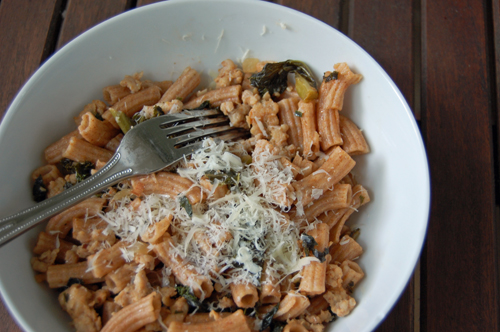 Whole Wheat Penne w. Sausage & Kale