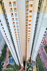 Looking down. (Reggie Wan) Tags: city building architecture singapore asia southeastasia day aerialview hdb publichousing highrisebuilding toapayoh moderncity asiancity reggiewan sonya850 sonyalpha850 gettyimagessingaporeq1