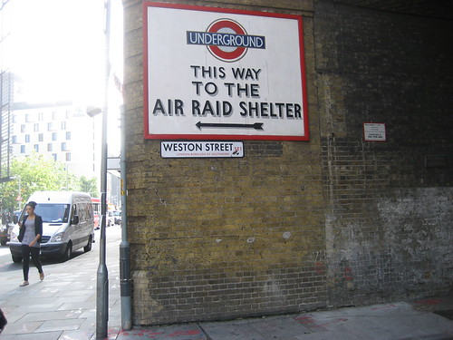 Air raid shelter in Southwark