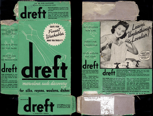 Proctor & Gamble - Dreft - marvelous suds discovery - detergent box - 1940's by JasonLiebig