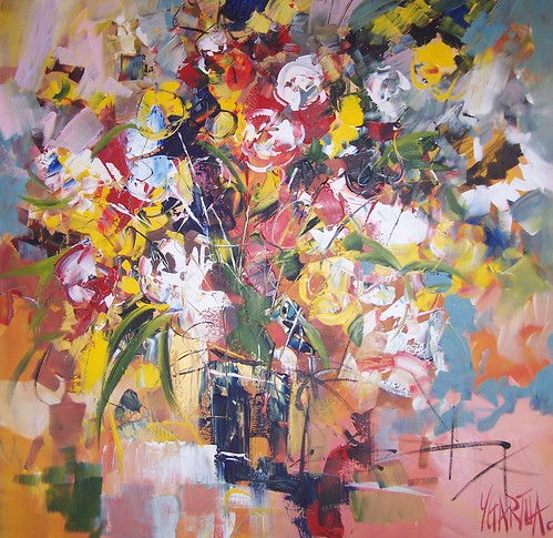 Flowers - Painting - Impressionism