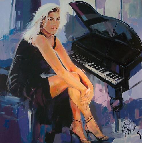 Jazz Singer - Painting - Impressionism