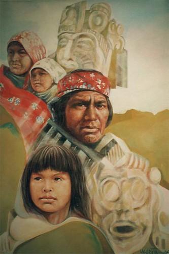 Mayan Heritage - Painting - Realsim