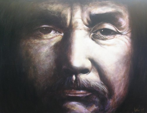 Haida Native - Painting - Realism