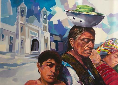 La Abeuela con fruta - Painting - Realism