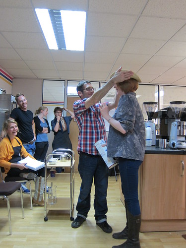 Naomi being crowned as the Barista Smackdown champion
