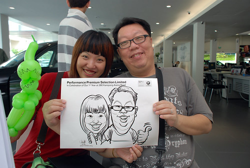 Caricature live sketching for Performance Premium Selection first year anniversary - day 3 - 21