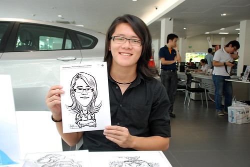 Caricature live sketching for Performance Premium Selection first year anniversary - day 4 - 11