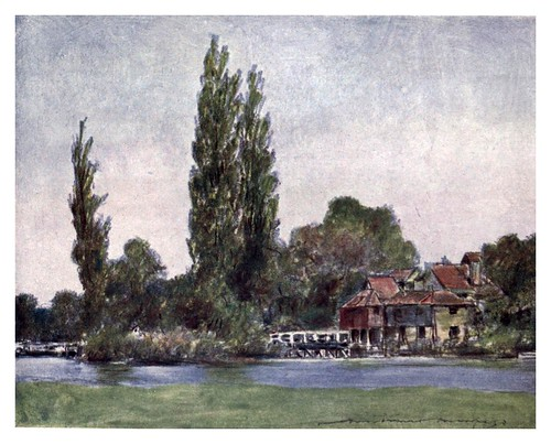 003-Iffley-The Thames-1906- Mortimer Menpes