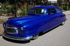 1949 Nash (Bill Jacomet) Tags: auto show old blue car town spring texas run 49 rod nash lonestar 1949