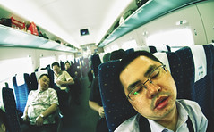 Long Train Ride (Jonathan Kos-Read) Tags: china railroad sleeping delete10 train delete9 delete5 delete2 delete6 delete7 fat chinese rail delete8 delete3 delete delete4 save  asleep snoring pimples goldenratio   highspeedrail zenitar16mmfisheye  deletedbydeletemeuncensored