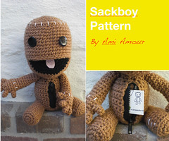 Sackboy Crochet Pattern - Open Mouth and Zipper (Ami Amour) Tags: big pattern little crochet planet zipper amigurumi sackboy