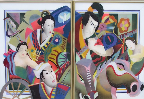 Samurai Warriors - Painting Original - Plexiglass