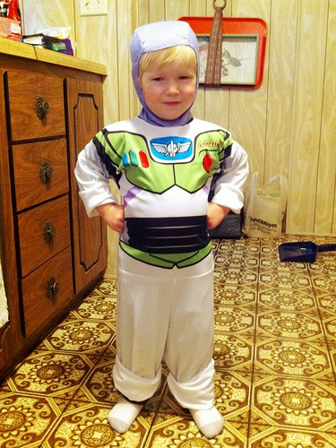 Jacob loves his new Buzz Lightyear costume