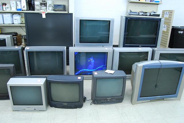 Thrift store tvs