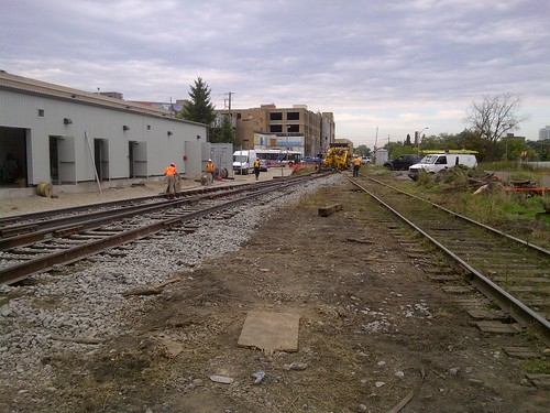 Switch Connecting the GO Siding to the Main Line