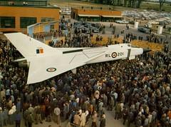 Arrow32 Avro Arrow Rollout October 4, 1957 (Sudbury2Malton) Tags: lancaster boeing douglas malton avro dehavilland mcdonnelldouglas victoryaircraft avroe nationalsteelcar maltonontario avroarrowavro