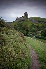Corfe Castle (Rob Ferrol) Tags: castle dawn view cloudy side hill overcast historic dorset corfe