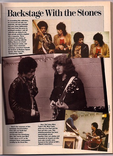 Jimi & Mick Taylor GW March 1988 P. 33