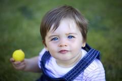 (Fo†om∆†σm [¯Ô¯]) Tags: blue light portrait baby france colour green grass yellow kids canon children eyes toddler natural artistic outdoor enfant fotomatom eos5dmkii
