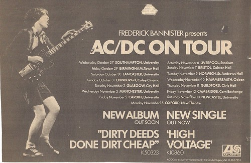 Oct-Nov 1976 AC-DC Europe Tour Ad
