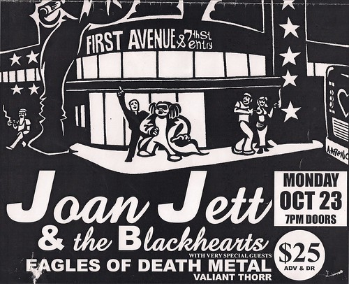 10-23-06 Joan Jett/Eagles Of Death Metal/Valiant Thorr @ First Avenue, Minneapolis (Poster - Bottom)