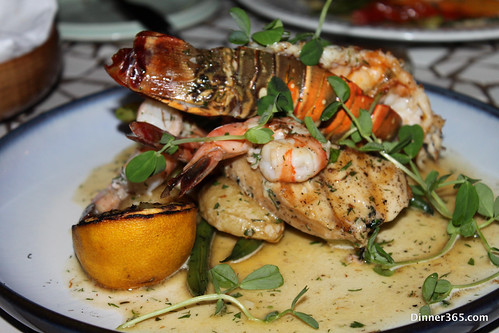 Day 269 - Roasted Rock Lobster, Black Tiger Shrimp and Grilled Butter fish