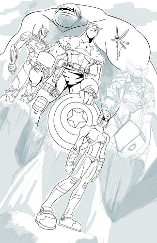 011 The Avengers Team WIP 2 by Sean-Loco-ODonnell 2011 by Sean-Loco-ODonnell