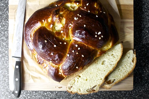 apple honey challah, sliced