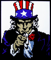 "I Want You! 25""x30"" (Dave Shaddix) Tags: sam lego mosaic uncle"