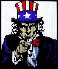 "I Want You! 25""x30"" (Dave Shaddix) Tags: sam lego mosaic uncle"