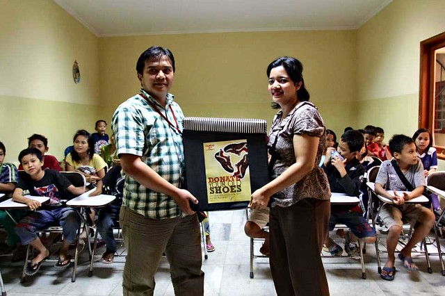 YCAB's House of Learning and Development receive the symbolized shoes donation