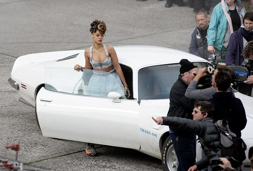 Rihanna We Found Love Music Video shoot